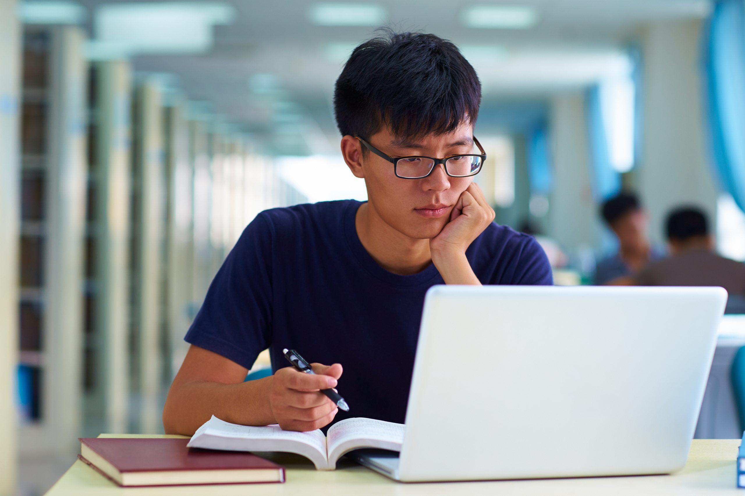 asian online student